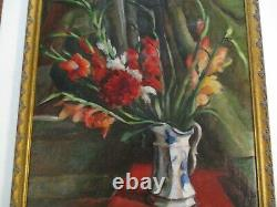 Antique Vintage Impressionist Oil Painting Still Life Signed Mystery Artist Old