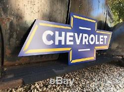 Antique Vintage Old Style Chevrolet Bowtie Sign