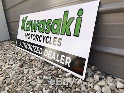 Antique Vintage Old Style Kawasaki Dealer Sign