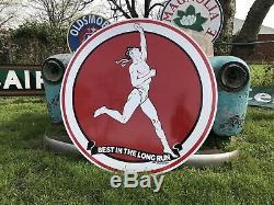 Antique Vintage Old Style Marathon Gas Oil Sign 40