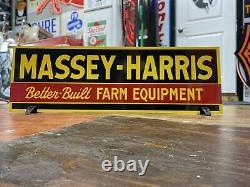 Antique Vintage Old Style Massey Harris Farm Equipment Sign