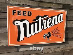 Antique Vintage Old Style Nutrena Feed Seed Farm Sign