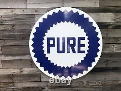 Antique Vintage Old Style Pure Gasoline Sign