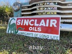 Antique Vintage Old Style Sinclair Oils Service Station Sign