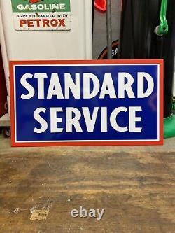 Antique Vintage Old Style Standard Service Gasoline Service Station Sign