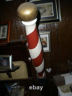 Antique Wood Barber Pole-100 Years Old-the Real Deal