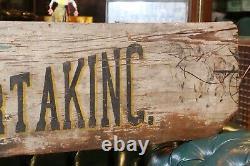 Antique Wooden Folk Art Trade Sign Furniture Cabinet Making Shop Undertaking Old