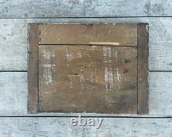 Antique Wooden Number 5 Trade Sign Train Platform Old Grocery General Store VTG