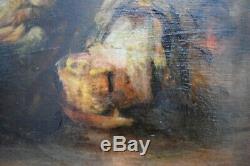 Antique painting. Bernard de Hoog. Old master painting. Painting. Art