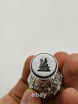 Beautiful Old Sterling Silver Signed Tiffany & Co. Wax Seal With Floral Design