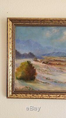 CLEARANCE! Antique Early California Desert Plein Air Landscape Old Oil Painting