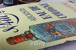COLOGNE 4711 PORCELAIN ENAMEL VINTAGE PERFUME SIGN advertising store bottle OLD