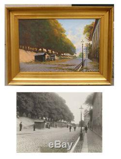 Carl Lund (1857) The old rope yard. Copenhagen. 1880s. Antique salon oil