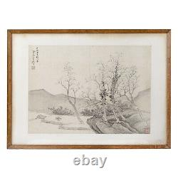 Chinese Antique Fine Paintings 18th /19th Century Qing Watercolour Old Master