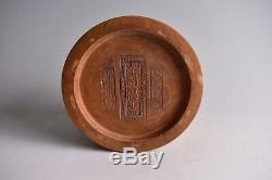 Chinese Old Clay Jar Box signed / W 12.8cm Qing Pot Plate Bowl Jar