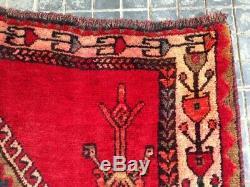 DEVINE SIGNED OLD VILLAGE KARABAGH ORIENTAL HANDKNOTTED RUG #186Asize9.5x5.1FT