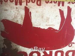 Durocs Pig Pork Farm Sign Hog Cast Iron Barn Meat Oiler Feed Old Vintage Antique