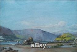 E. Hesketh, 3 X 1883 Original Old Antique Coastal Landscape Watercolour Painting