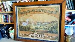 Early American 1830'-40's OLD Hartford Fire Insurance Sign. RARE