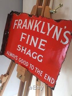 Enamel Sign Antique Old Rare Advertising Cigerette Sign