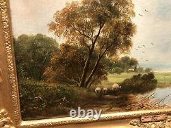 FINE OIL PAINTING By DAVID BATES ANTIQUE 19th CENTURY BRITISH OLD MASTER PIECE