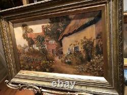FINE ORIGINAL ANTIQUE 19th Century British OLD MASTER OIL PAINTING SCENE