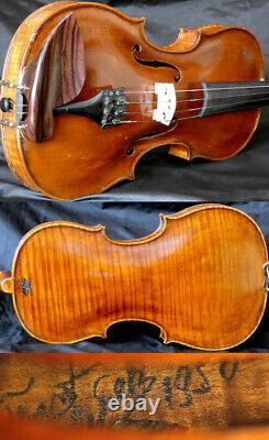 Fine 4/4 Master Old Bohemian violin, Hand Signed c. 1950 Fiddle
