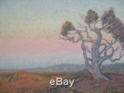 Fine Ferdinand Burgdorff Drawing Pastel Grand Canyon Antique American Desert Old