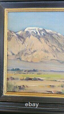 Frederick Chisnall Antique Early California Plein Air Landscape Oil Painting Old