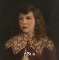 Gorgeous antique portrait of 4 year old John Burkhead. Dated 1898 by C. H. Parker