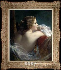Hand Painted Old Master-Art Antique Oil Painting noblewoman on canvas 20x24