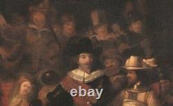 Huge 17th Century Dutch Old Master The Night Watch Soldier REMBRANDT (1606-1669)