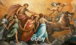Huge 18th Century Italian Old Master Apollo & Aurora Greek Mythology Guido RENI