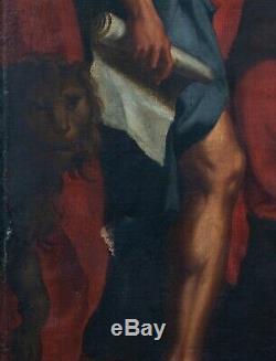 Huge 18th Century Italian Old Master Madonna Christ St Jerome Mary Magdalene