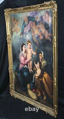 Huge 18th Century Spanish Old Master The Virgin Of Seville Madonna Baby MURILLO