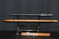 (IR-80) Old YARI Blade 22cm (8.66inch) BI sign MUROMACHI