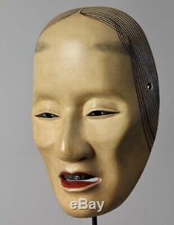 Japanese signed Noh Mask depicting Old woman character X8