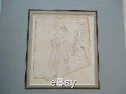 Joseph Nollekens Antique Drawing Old Master Nude Study 18th Century Figures