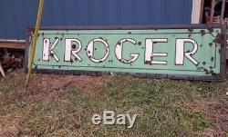 KROGER FOOD STORE antique Porcelain Sign old vintage grocery country food