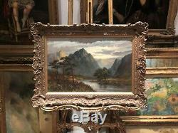 LARGE FINE F E. JAMIESON ANTIQUE 19th CENTURY BRITISH OLD MASTER OIL PAINTING