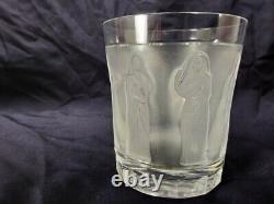 Lalique Femmes Antiques Flat Tumbler Double Old Fashioned Whiskey Glass