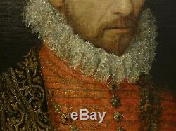 Large 16th Century Old Master Portrait King Charles IX Of France Francois CLOUET