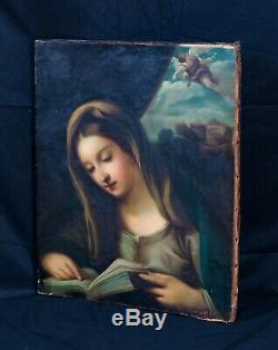 Large 17th Century Italian Old Master Virgin Annunciate Madonna Carlo MARATTA