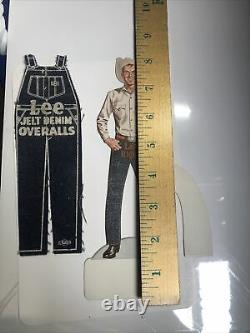 Lee Riders Cowboy jean overalls die cut stand up sign NOS & Denim Overalls