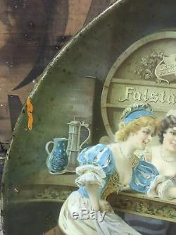 Lemp Beer Tray Charger 1908 2nd Tray Falstaff Pre Pro Old Sign Antique 24 In