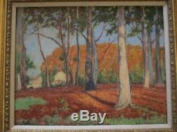 Merritt Signed Painting Antique Masterful Impressionist Vintage Landscape Old
