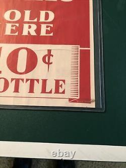 Miller Beer Sign 10 Cents A Bottle 1930s 1940s Old Antique Vintage