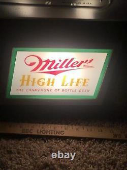 Miller Beer Sign Light Lighted Beer Sign 1952 Old Antique Vintage Works