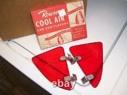 NOS Vintage Original Rowse Accessory Wind Breezies Air Deflectors GM window wing