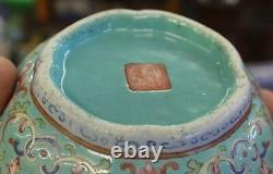 Nice Old Vintage Rare Signed Asian Antique Famille Rose Medallion Chinese Bowl